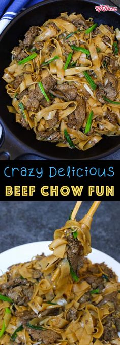 hurricane food ideas This Beef Chow Fun is surprisingly easy to make at home in under 30 minutes. Its loaded with extra-wide ho fun rice noodles tender beef slices and flavorful ve Chow Fun Noodles, Rice Noodles, Beef Chow Fun Recipe, Kitchen Recipes, Cooking Recipes, Cooking Ideas, Flank Steak Recipes, Asian Beef, Fried Vegetables