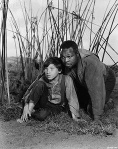 Eddie Hodges and Archie Moore in The Adventures of Huckleberry Finn