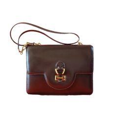 Vintage Sandrine HERMES Brown in Leather