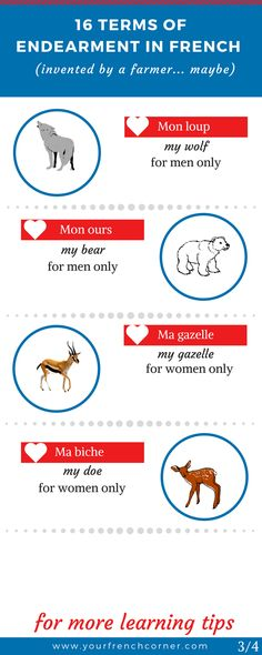 16 Unusual Endearment Terms In #French (invented by a farmer… maybe) #fle #fsl
