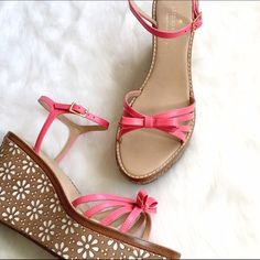 NWOT Kate Spade Platform Sandals Adorable! The daisy cutouts on the platforms are definitely giving me a mid-90s vibe! A few smudges to straps, barely noticeable, soles are near perfect! kate spade Shoes Sandals