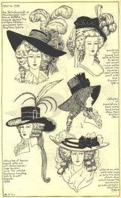 More late 1700's hats - love!