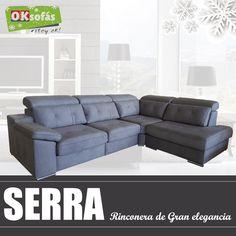 #ModeloSerra, rinconera de #granelegancia y confort. Te garantiza un buen #confort.  La mejor opción para #aprovecharalmáximo el espacio del salón.   #sofás #decor #Decoración #OKSofás #ModeloSerra  #confort #aprovecharalmáximo  #granelegancia # rinconera