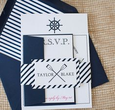 Nautical Invitation Suite by lvandy27 on Etsy, $3.99