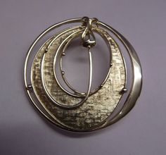 Ola Gorie Silver May Queen Brooch Pin Margaret MacDonald Mackintosh Boxed