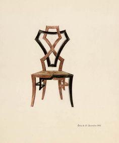 Chair design by Emilio Terry, 1948 Les Arts Décoratifs, Paris