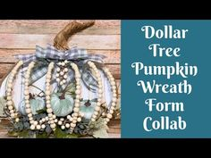 Pumpkin Wreath Collab With A Noble Touch, Julie's Wreath Boutique, & This Southern Girl Can - YouTube Pumpkin Wreath, Pumpkin Crafts, Fall Crafts, Dollar Tree Pumpkins, Dollar Tree Crafts, Straw Wreath, Mesh Wreath Tutorial, Christmas In Heaven, Wreath Forms