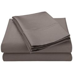Symple Stuff Cotton Blend 600 Thread Count Solid Sheet Set Size: Twin XL, Color: Gray