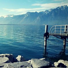 Pontoon over lake Geneva // Ponton au bord du lac Léman (c)Judith Morsel Excursion, Lake Geneva, Europe, The Incredibles, Mood, Mountains, Country, Nature, Travel