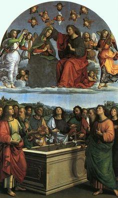 Raffaello ed aiuti - Incoronazione della Vergine o Pala degli Oddi - 1502 -1503 - Pinacoteca Vaticana, Città del Vaticano