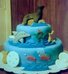 Sea lion birthday cake  Cakes for kids  Pinterest  Lion birthday ...