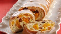 Serve your brunch guests a warm, fruity bread. It's easy!  Just roll dried fruit into refrigerated bread dough.