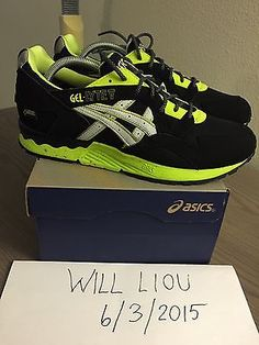 7e778d7cb4cd Asics Gel Lyte V GLV Gore Tex Black Volt Yellow size 9.5