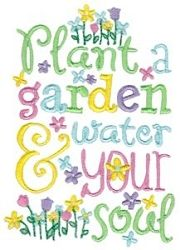 Garden Sentiments 4 - 2 Sizes! | What's New | Machine Embroidery Designs | SWAKembroidery.com Bunnycup Embroidery