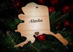 Alaska State of Alaska Christmas / Holiday by BPLaserEngraving