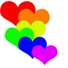 heart rainbow picture   Rainbow Hearts