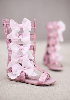 gladiator pink sparkle sandals, so cute#girls #fashion #sandal