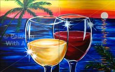 Have a valentine's date night at Painting with a Twist in Conroe, Texas. They have a special for valentine's day!