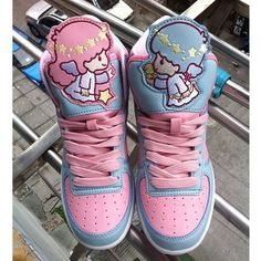 FREE Shipping Harajuku Little Twins sweet Sneakers Shoes $55.77