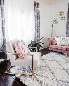 Modern Glam Chic Style Wohnzimmer Gold Samt Luxe Home Decor #decor #modern #style #wohnzimmer #ModernHomeDecorLivingRoom