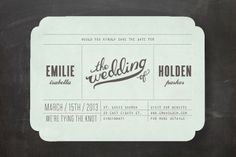 Mr. Laurence Save the Date Cards by Moglea at minted.com