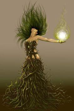 Earth Witch (Via The Pagan Poppet FB) I am Earth element! Fantasy World, Fantasy Art, Earth Goddess, Goddess Pagan, Goddess Art, Gods And Goddesses, Mythical Creatures, Faeries, Magick