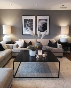 Keep up to date with the latest small living room decor ideas (chic & modern). Find good ways to get stylish design even if you have a small living room. Cozy Living Rooms, Living Room Grey, Apartment Living, Home And Living, Modern Living, Cozy Apartment, Minimalist Living, Apartment Furniture, Living Room Interior