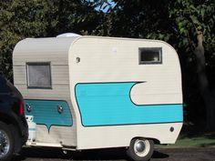 Vintage 1967 Swinger Compact Camper Travel Trailer Shasta