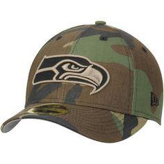2b581d6f0 Men s New Era Seattle Seahawks Woodland Camo Low Profile 59FIFTY Fitted Hat  Seahawks Gear