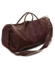 LL Bean leather duffel Cowhide Leather, Leather Men, Brown Leather, Leather Duffle Bag, Leather Bags, Travel Bags For Women, Ll Bean, Michael Kors Bag, Shoe Bag