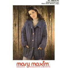 Mary Maxim - Ribbed Crochet Coat Pattern - Free Patterns - Patterns & Books