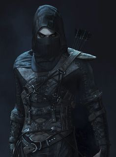 m Rogue Assassin Leather Armor Cloak Mask undercity urban city underdark Gamer Thief Black Stylish Leather jacket  Jacket Features Game: Thief Outfit type: Leather Jacket Gender:Male Color: Black Care Instructions: Machine wash Fantasy Character Design, Character Concept, Character Inspiration, Character Art, Dungeons And Dragons Characters, Dnd Characters, Fantasy Characters, Arte Assassins Creed, Rogue Assassin