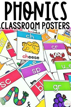 These phonics posters are perfect for kindergarten, grade, and grade classrooms! Teachers love using these to display vowel digraphs, consonant blends, and other skills for phonemic aware Preschool Phonics, Alphabet Phonics, Phonics Activities, Teaching Kindergarten, Pre Reading Activities, Word Work Activities, Learning Activities, 2nd Grade Classroom, Classroom Posters