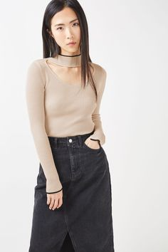 Fine Gauge Choker Knitted Top - Sweaters & Knits - Clothing - Topshop USA