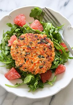 Healthy Salmon Quinoa Burgers *could try with brown rice, different fish, etc