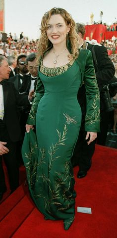 red carpet green dress kate winslet titanic - Google Search