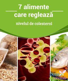 7 #alimente care #reglează nivelul de #colesterol  Colesterolul este un tip de grăsime de care #organismul are nevoie într-o anumită măsură pentru a funcționa în mod optim. Dacă nivelul de colesterol din organism este foarte ridicat, poți întâmpina numeroase probleme de sănătate, însă dacă se menține la valori normale, această lipidă ajută la secreția unor hormoni și la formarea anumitor structuri fiziologice. Paella, Good To Know, Fish, Health, Plants, Cholesterol, Allergies, Salads, Health Care