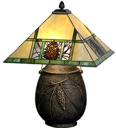 Pinecone Mission Lamp by Meyda Tiffiney available at Ravenswood Gifts!