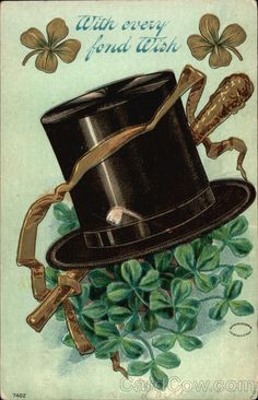 Vintage St. Paddy's Day card from cardcow.com