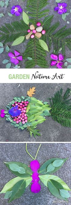 Create beautiful and simple nature art using items collected from your garden. This is a fun, free process art activity which gets kids outdoors and using their imaginations.