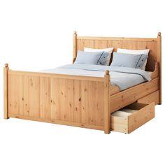 IKEA - HURDAL, Struttura letto con 4 cassetti, Luröy, 160x200 cm, , Le venature e i nodi del pino massiccio donano a ogni articolo caratteristiche uniche.Le sponde del letto regolabili ti permettono di usare materassi di diversi spessori.Le 17 doghe in multistrato di betulla si adattano al peso del tuo corpo e aumentano l'elasticità del materasso.I 4 cassetti capienti con rotelle ti permettono di sfruttare lo spazio sotto il letto.