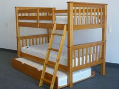 Bunk Bed Twin over Twin Honey with Trundle delivered for only $412