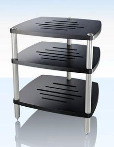 clearlight audio aspekt rdc rack fuer hifi ebenen 4 frontleisten buche schwarz rahmen. Black Bedroom Furniture Sets. Home Design Ideas