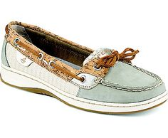 Sperry Top-Sider Angelfish Cork Slip-On Boat Shoe- Size 6.5 Grey/Silver Cork