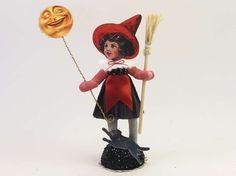 Witch Luna Vintage Inspired Spun Cotton Figure OOAK (READY To SHIP!) by VintagebyCrystal on Etsy