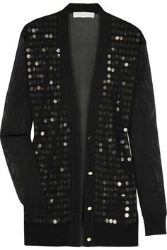 Stella McCartney  Sequined fine-mesh cardigan