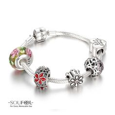 Soufeel Blossom Age Charm Bracelet 925 Sterling Silver Compatible All Brands Basic Bracelet. For Every Memorable Day