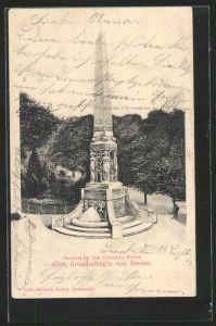 AK Darmstadt, Denkmal für königliche Hoheit Alice, Grossherzogin von Hessen 1902