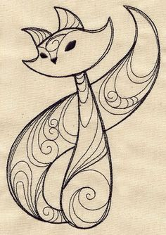 """Sly Fox"" embroidery pattern - also may be good for quilling"