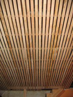 Unique idea for basement ceiling. & Cool Basement Ceiling Idea. Basement ceiling idea could be really ...